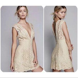Free People one million lovers mini Dress Cream